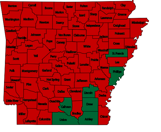 Arkansas WildFire map